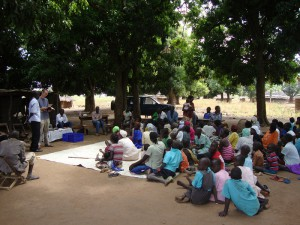 Bible sharing at CHE
