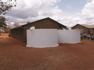 Finished rainwater harvesting tanks