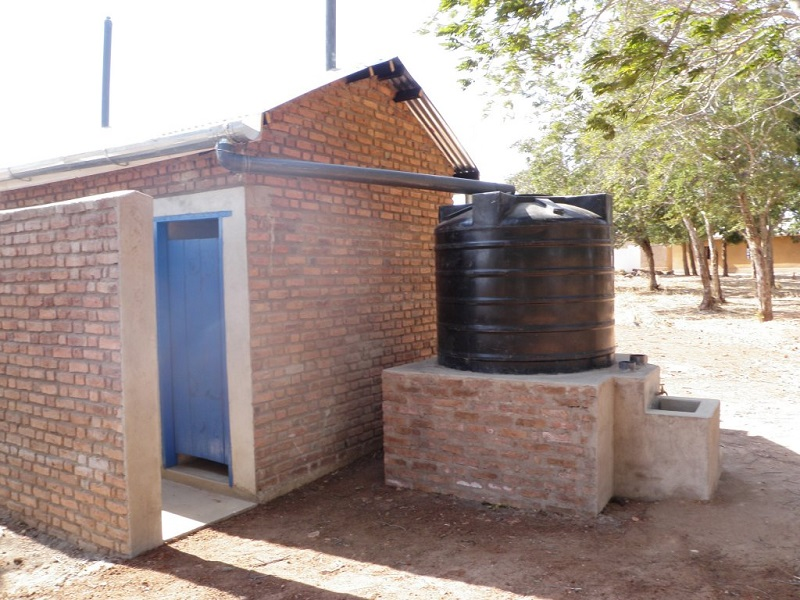 New girl's toilet with handwash station