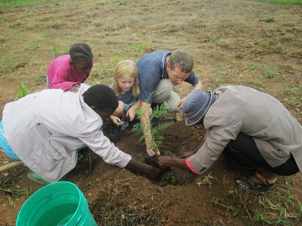 Tree planting in Kisesa