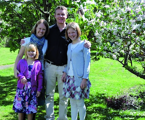 Tim and Rachel Monger with Louisa and Amisadai