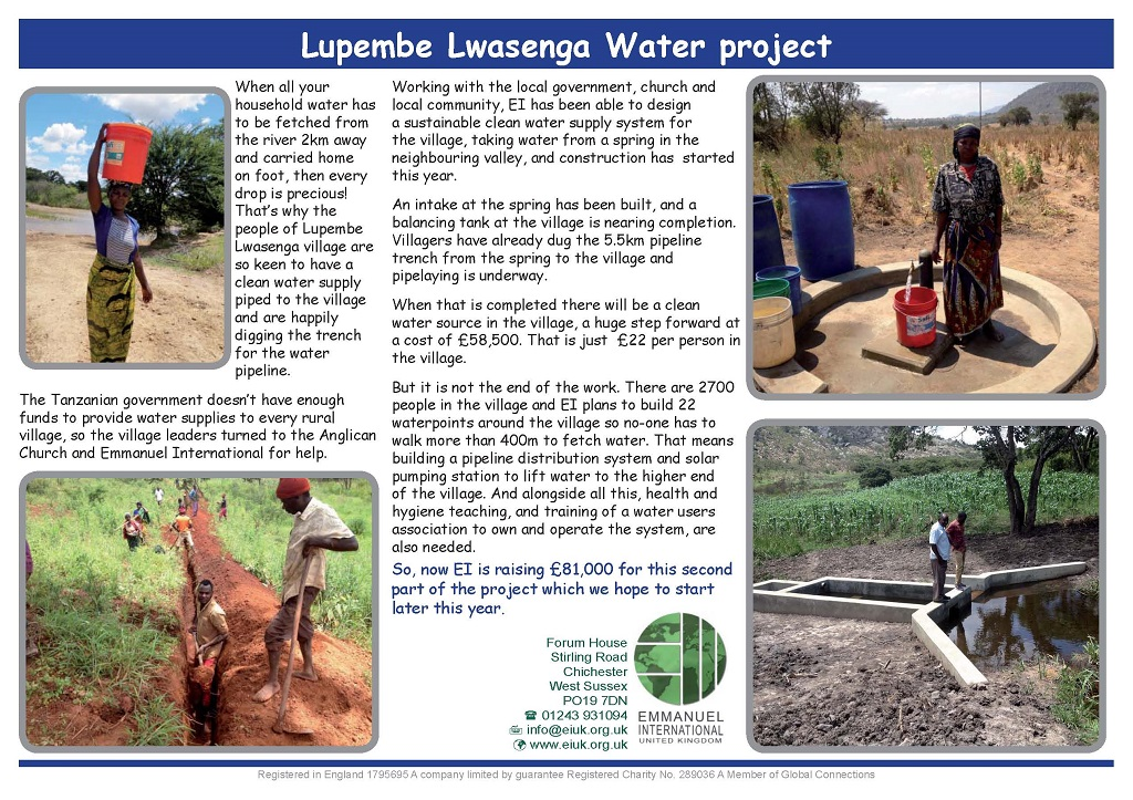 Lupembe Lwasenga Water project