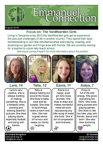 Meet the VanWoerden girls and Pray for us every day in August 2018