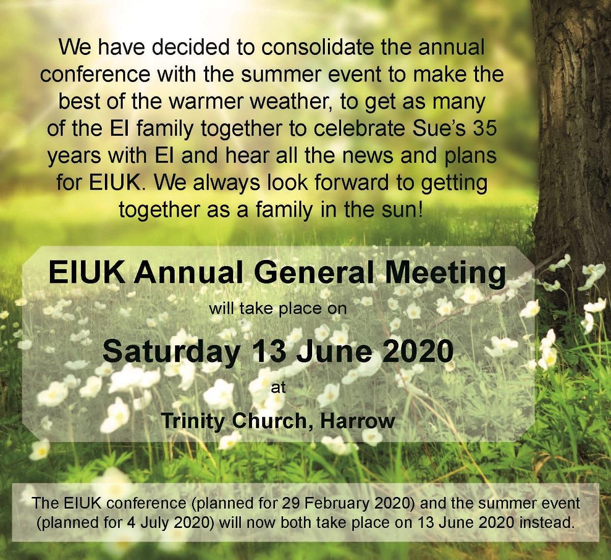 EIUK Annual General Meeting : 13 June 2020