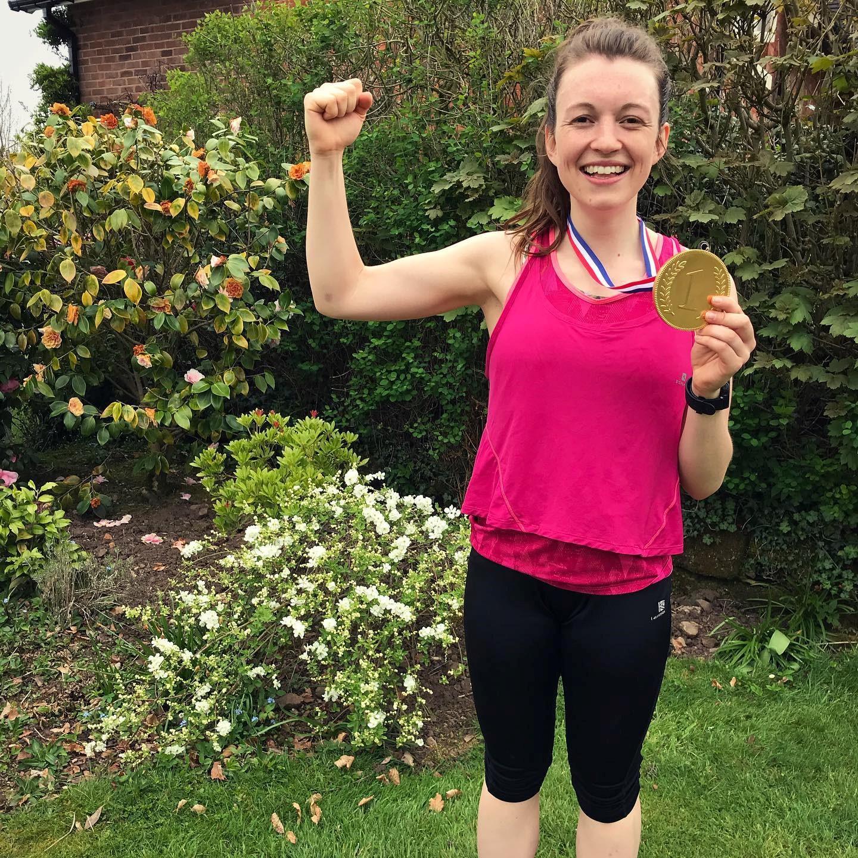 Claire Hemingway ran a marathon!